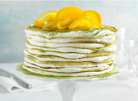 recipe preview image - matcha crepe cake